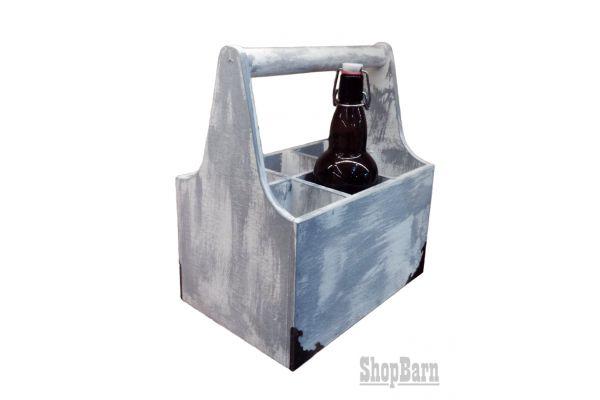 Переноска для пива на 6 бутылок, ручной работы
